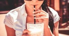 Free image: A Girl Drinking Milkshake Drink in Caffe Smoothie Diet, Smoothie Recipes, Smoothies, Drink Recipes, Milkshake Drink, Hemp Milk, Dry Skin On Face, Dry Skin Remedies, Gateaux Cake