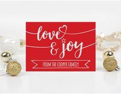 Love & Joy Personalised Christmas Card