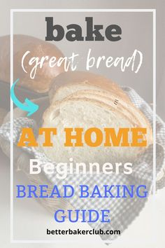 A Beginners Guide to Baking a Loaf of Bread - Better Baker Club Loaf Recipes, Baking Recipes, Baking Bread At Home, Dinner Rolls Recipe, White Bread, Recipes For Beginners, Bread Rolls, Recipe Using, Cooking Tips