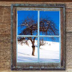 Winterlicher Ausblick, Almhütte