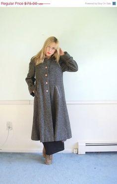 Winter Park Vintage 50s Grey Wool Long Princess Length Overcoat Coat. $70  http://www.etsy.com/listing/87813732/25-off-outerwear-winter-park-vintage-50s