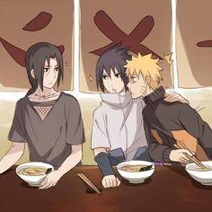 most beautiful couple ♥  kind of cute how sasuke shows naruto belongs to him C:>>>Not a shipper, but very cute.