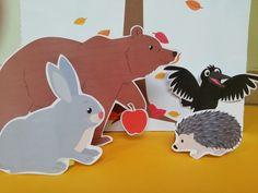 Nyomtatható bábok Szutyejev: Az alma c. meséjéhez   Játsszunk együtt! Kids Rugs, Decor, Short Stories, Decoration, Kid Friendly Rugs, Decorating, Nursery Rugs, Deco