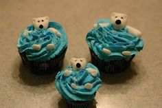 Polar bear cupcakes!