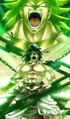 This is some pretty awesome Broly art.  #Broly #DragonBall #SuperSaiyan
