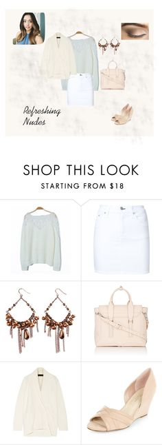 """Mixing Beiges/Creams and Whites"" by mya0nah21 on Polyvore featuring rag & bone/JEAN, Alexa Starr, 3.1 Phillip Lim, The Elder Statesman and New Look"