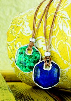Get more SilpadaStyle when you Immerse yourself in the tropics with gorgeous shades of blue! Double-sided. Lapis, Compressed Stabilized Turquoise, Leather, Sterling Silver!  www.mysilpada.com/miranda.hartlieb