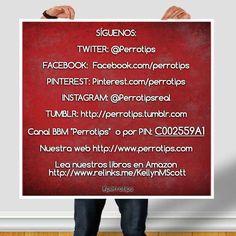 No olvides seguirnos en nuestras redes.  Y pronto una app Android #perrotips