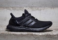 "Oh, so you thought that it wasn't coming? Yes, the adidas Ultra Boost is finally getting the murdered out treatment. The need for a ""Triple Black"" adidas U Sneakers Mode, Best Sneakers, Sneakers Fashion, All Black Sneakers, Fashion Shoes, Shoes Sneakers, Black Shoes, Ultra Boost Triple Black, All Black Adidas"
