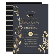 Dusk Gold GRADUATION Ceremony Invite and party Custom #babyshower invitations - Make your special day with these personalized #baby #shower #invitations change the colors font and images and make them your own.