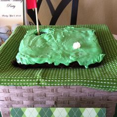 Masters Party - golf green brownies