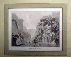 1776 Rosenberg Aquatint ROCHES de MOILIE Jura SWITZERLAND wash SUISSE…