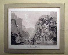 1776 Rosenberg Aquatint ROCHES de MOILIE Jura SWITZERLAND wash SUISSE…