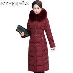 Cheap fur collar winter jacket, Buy Quality winter jacket directly from China size clothing Suppliers: women cotton-padded outerwear x-long faux fur collar winter jacket thicken warm hooded mother clothing plus size Best Winter Jackets, Best Winter Coats, Winter Coats Women, Coats For Women, Jackets For Women, Clothes For Women, Long Parka, Womens Parka, Parka Coat