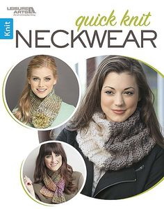 Quick Knit Neckwear - Rock a special outfit with new neckwear you can knit in no time! Chunky yarns and easy patterns make the nine classic scarves and fun cowls in Quick Knit Neckwear from Leisure Arts all quick to create. Designs include Garter Fringe Cowl and Pom-Pom Closure Cowl by Marly Bird; Clover Cowl/Scarf by Karen Whooley; Knit and Rib Scarf and Reversible Scarf by Margret Willson; Hooded Scarf by Leisure Arts; Keyhole Scarf by Kim Haesemeyer; Reversible Cowl by Sarah J. Green; and…