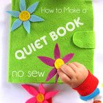 How to Make a Quiet Book the NO SEW Way-- this page goes through making the actual book using just felt and hot glue