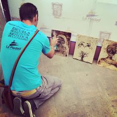 A volunteer participates in a printmaking workshop as part of a project that involved running a festival in Mexico. Volunteers Around The World, Printmaking, Workshop, Mexico, Around The Worlds, Peace, T Shirts For Women, Running, School