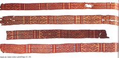 Illustration of tablet weaving worn by the abbess Bathilde (Chelles, 7th cent)