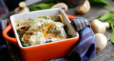 Spenótos-gombás tojás sütőben sütve recept: Gyors, egészséges reggeli vagy akár könnyed vacsora! ;)
