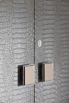 "luxurious crocodile leather feel for wardrobe veneer."" ""crocodile cabinets"""