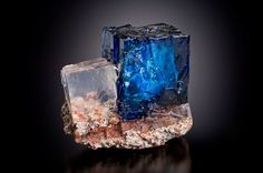 Blue Halite and Sylvite crystals