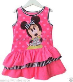 3aab97b118900 robe coton neuve etiquetee disney minnie taille 24 mois ou 2 ans