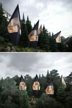 Peter Pichler Architecture has designed prism-shaped treehouses nestled in the forest of the Italian Dolomites. : Peter Pichler Architecture has designed prism-shaped treehouses nestled in the forest of the Italian Dolomites. Architecture Design, Architecture Portfolio, Futuristic Architecture, Contemporary Architecture, Amazing Architecture, Gothic Architecture, Concept Architecture, Architecture Facts, Enterprise Architecture