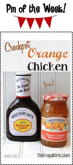 Slow Cooker Orange Chicken Recipe..can't beat simple and low maintenance meals
