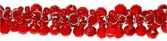 7.25in Red Acrylic Drop Chain  - Red Acrylic Drop Chain [$3.99]