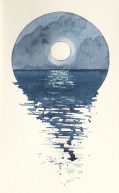 Hey, I found this really awesome Etsy listing at https://www.etsy.com/uk/listing/232633356/full-moon-over-the-ocean-watercolour #watercolorarts