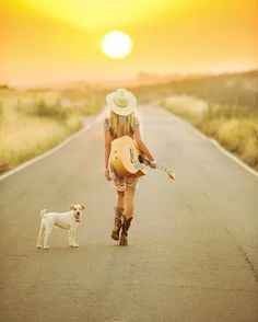 Cowgirl..into the sunset.