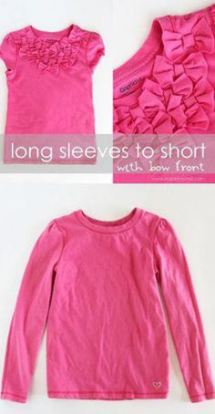DIY T Shirt Bow Redesign – Day 44 http://interestingfor.me/diy-t-shirt-bow-redesign/