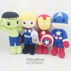 Superheroes amigurumis