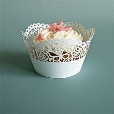 Or, choose a traditional cupcake in a lace liner