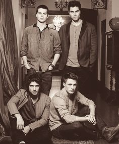 The boys from Teen Wolf: (Clockwise from top left) Stiles (Dylan O'Brien), Derek (Tyler Hoechlin), Jackson (Colton Haynes), Scott (Tyler Posey) Teen Wolf Tumblr, Teen Wolf Mtv, Teen Wolf Boys, Teen Wolf Dylan, Teen Wolf Stiles, Teen Wolf Cast, Stiles Derek, Derek From Teen Wolf, Colton Haynes Teen Wolf