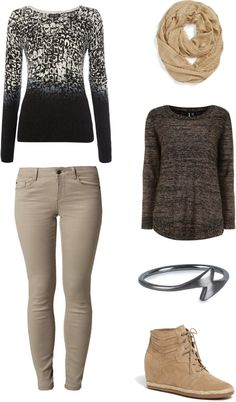"""[Requested by Anonymous] Outfit inspired by Vixx's Leo, performance of """"Only You"""", 131126 More Outfit on I Dress Kpop Get The Look: Ombre Sweater Pants Scarf Other Sweater (alternative) Ring Shoes"""