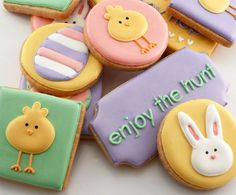 easter hunt cookies {katieduran on etsy}