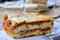 Mother Thyme: Lasagna with Homemade Lasagna Noodles