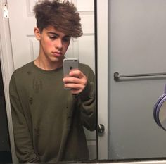 [Mikey Barone] Miley is 18 and he's bisexual but he isn't out yet. But just because he likes girls and guys that doesn't stop him from sleeping around. It doesn't happen often but anytime he gets drunk he sleeps with someone. He's pretty sensitive and sometimes quiet but when he drinks he's a totally different person