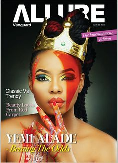 Lightup Concepts: Queen Yemi Alade is on the cover of Vanguard Allur...