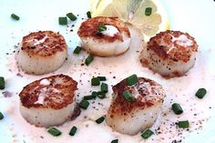 scallops with lemon cream sauce