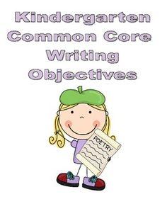 @Rachel King Kindergarten Common Core Writing Objectives