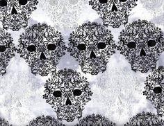 Tela FQ :: textured skulls :: de nosgustanlosretros por DaWanda.com