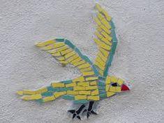Free Image on Pixabay - Bird, Mosaic, Colorful, Tinker Free Pictures, Free Images, Mosaic Birds, Bird Patterns, Dinosaur Stuffed Animal, Outdoor Decor, Crafts, Animals, Design