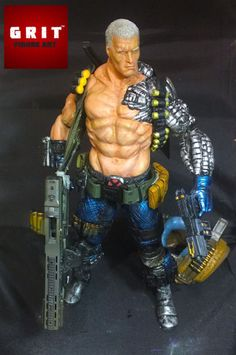 Cable (Marvel Select) Custom Action Figure by jessecuster Base figure: MS Cable dremmeled down and sculpted over