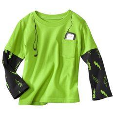 Circo® Infant Toddler Boys Long-Sleeve 2-Fer Graphic Tee - Green Light - bought