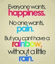 You can't have a rainbow #happiness #quotes #faith #projectinspired