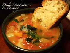Kale, Sausage and White Bean Soup  This one has potatoes, carrots and tomatoes in it!