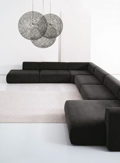 4 Stunning Cool Ideas: Minimalist Home Bedroom Floors modern minimalist living room colour schemes.Minimalist Home Colour Grey Walls minimalist decor colorful sofas. Sofa Design, Furniture, Living Room Sofa, Black Interior Design, Black Sofa, Minimalist Interior Design, Home Decor, Sofa Decor, Living Room Sofa Design