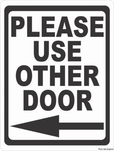 free please use other door right arrow printable sign template